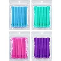 400 PCS Disposable Dental Swabs Micro Applicator Brushes Multipurpose Bendable Makeup Brush