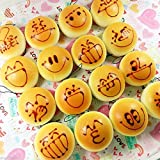 Wholesale 10x Kawaii Yellow Squishy Bread Cartoon Soft Cellphone Straps Charms