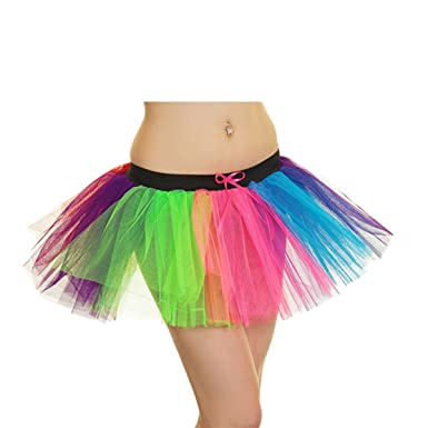 99eb32feab New Ladies 1980s Neon Tutu Skirt Fancy Dress 3 Layers Sexy Hen Party Fancy  Dress Skirts