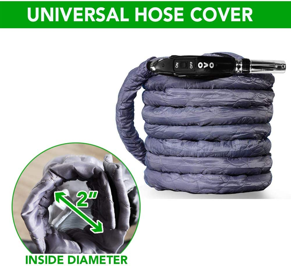 Nadair Central Vacuum Hose Cover Paded Machine Washable Universal Cover 30-32 ft