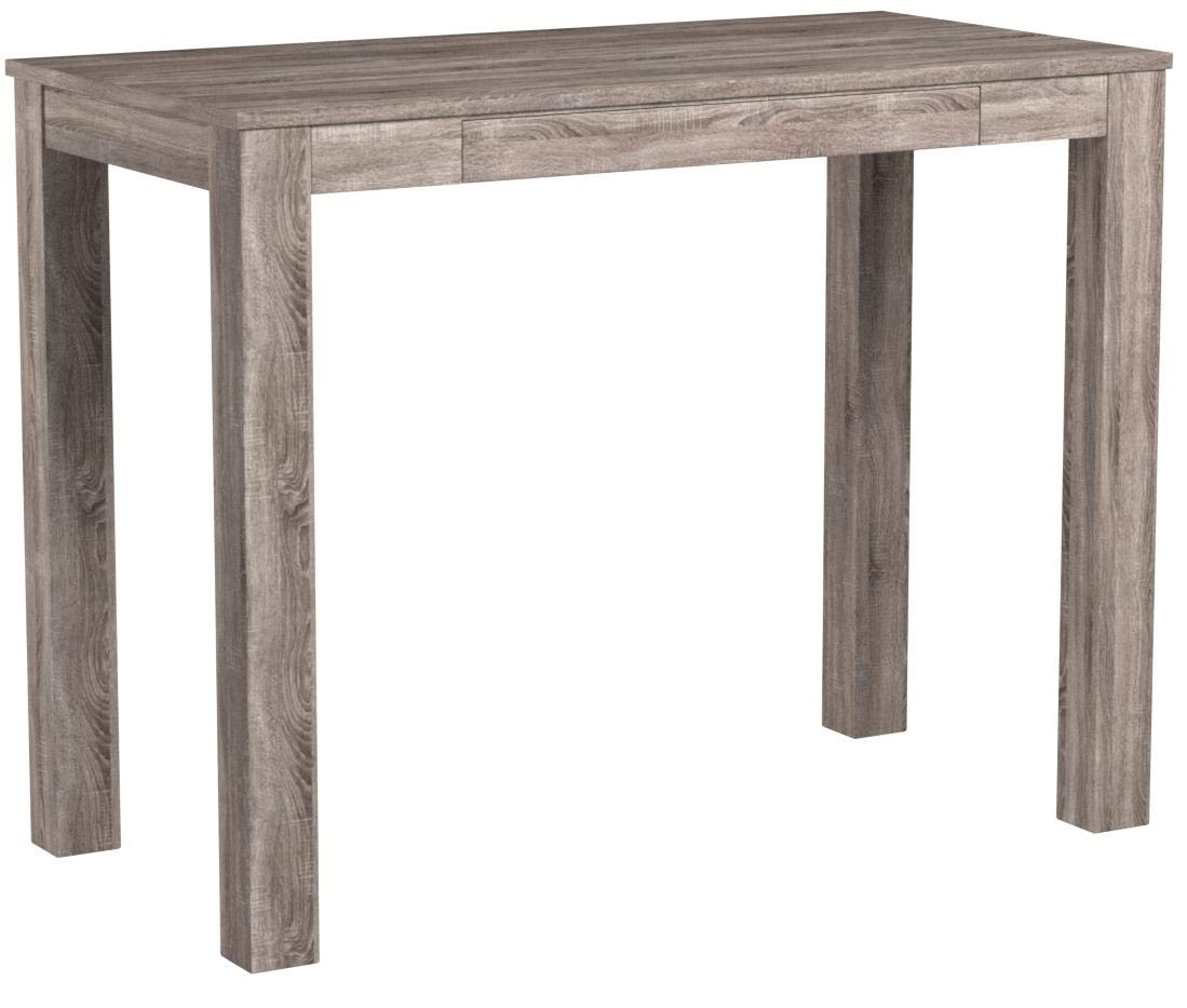 Mainstays Furniture New Parsons Desk with Drawer, Multiple Colors (Distressed Oak)