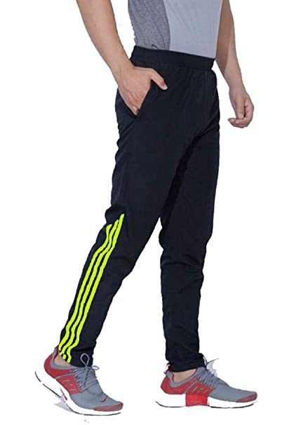 7e75ef68bc5f6 FINZ Men's Polyester and Lycra Jogger Trackpants with 2 Side Zipper  Pockets: Amazon.in: Clothing & Accessories