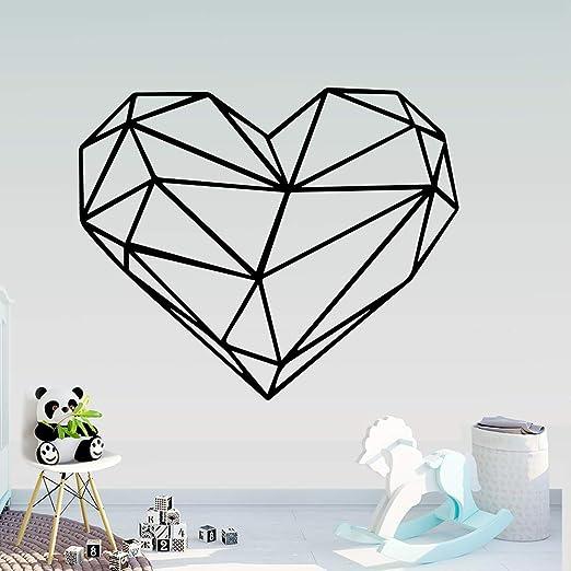 GJQFJBS Creatividad Geometría Corazón Adhesivos de pared Arte de ...