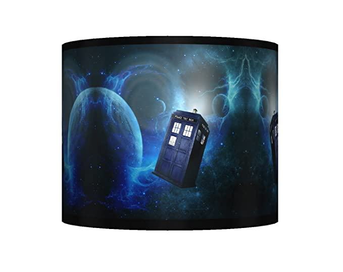 DR WHO CEILING LAMPSHADE ~ 10u0026quot; DRUM ~ BOYS BEDROOM LAMP SHADE