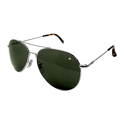 AO Eyewear American Optical - General Aviator Sunglasses with Wire Spatula  Temple and Silver Frame 31da55f7b2