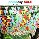 263ft Multicolor Pennant Party Banner Flags 150pcs Outdoor Flags Outdoor Décor Party Decorations for Birthdays Bars Clubs Events Opening Ceremony Wedding Festivals (11x7'')