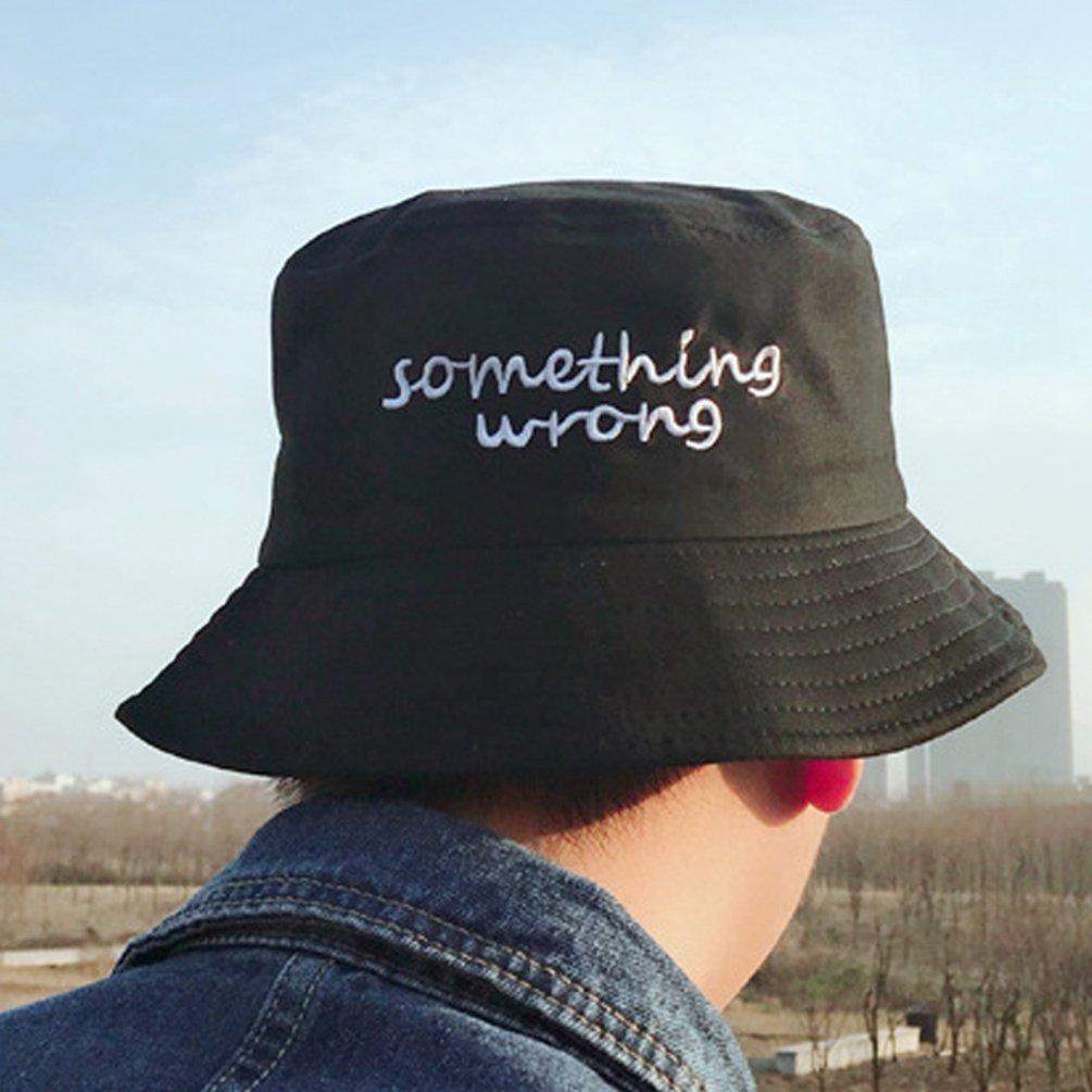 LINNUO Cappelli alla Pescatora Hats Bucket Ciclismo cap Estivo Cappello da Spiaggia con Ricamo Berretto Uomo Donna