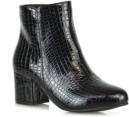 Amazon.com   Womens Ankle Boots Block