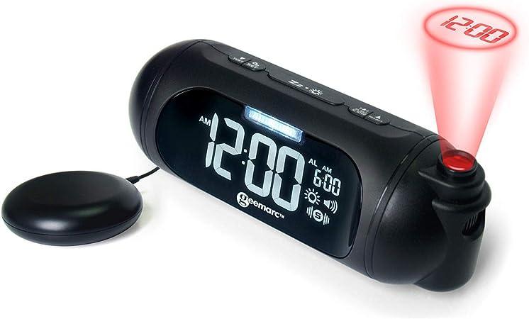 Geemarc Waken Shake Spot-Reloj Despertador Almohadilla vibratoria ...