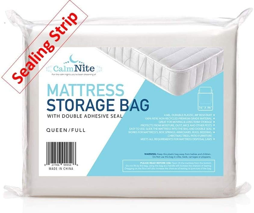High Quality Disposal Sealable Plastic matress 2 Full Mattress bags for moving