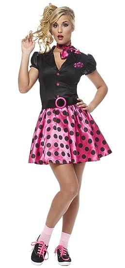 28b5ff4e2f8 Amazon.com  Franco 50s Sock Hop Cutie Adult Costume  Clothing