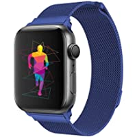 Pulseira Aço Inoxidável Milanese para Apple Watch 40mm e 38mm - Marca Ltimports (Azul)