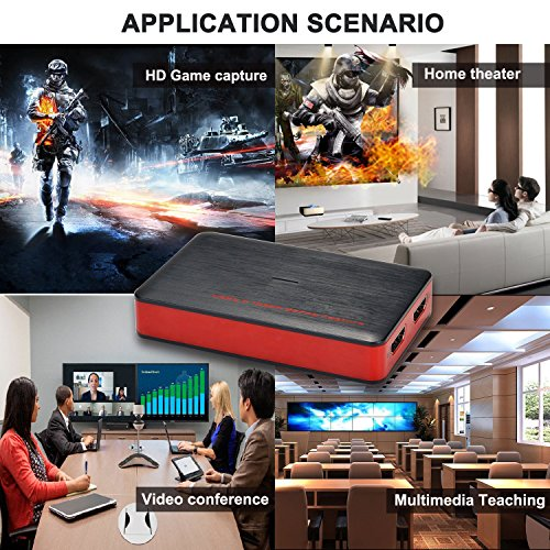 Y&H HDMI Game Capture Card USB3.0 1080P Game Recorder support Live Streaming,HD Video Capture Card for PS3 PS4 Xbox One 360 Wii U and Nintendo Switch,Compatible with Windows Linux Os X System by Y&H (Image #5)