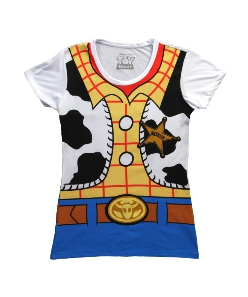Mighty Fine Toy Story I Am Woody Juniors Costume Tee White M