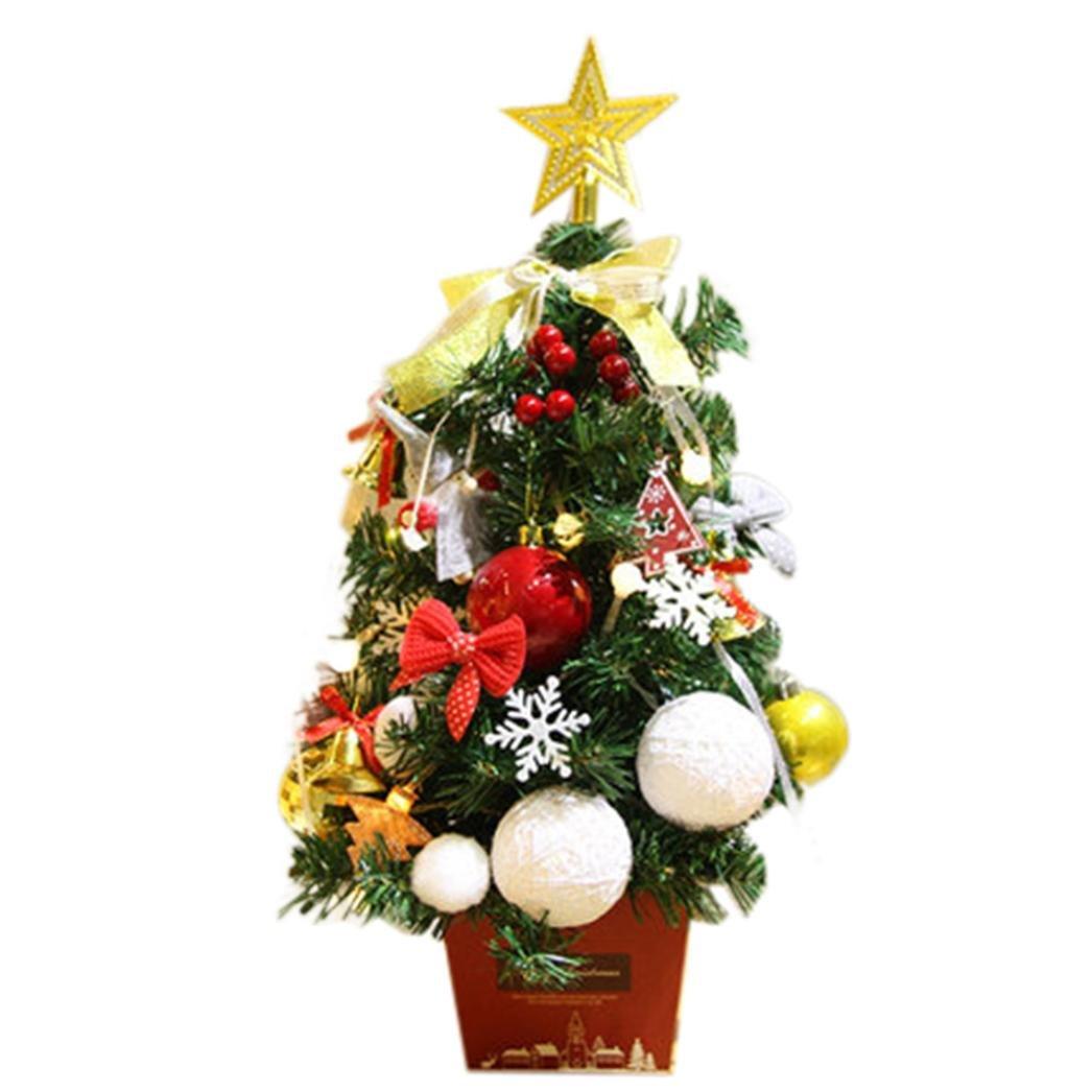 Oksale Christmas DIY Artificial Flocking Christmas Tree Multicolor Holiday Xmas Window Decor (B)