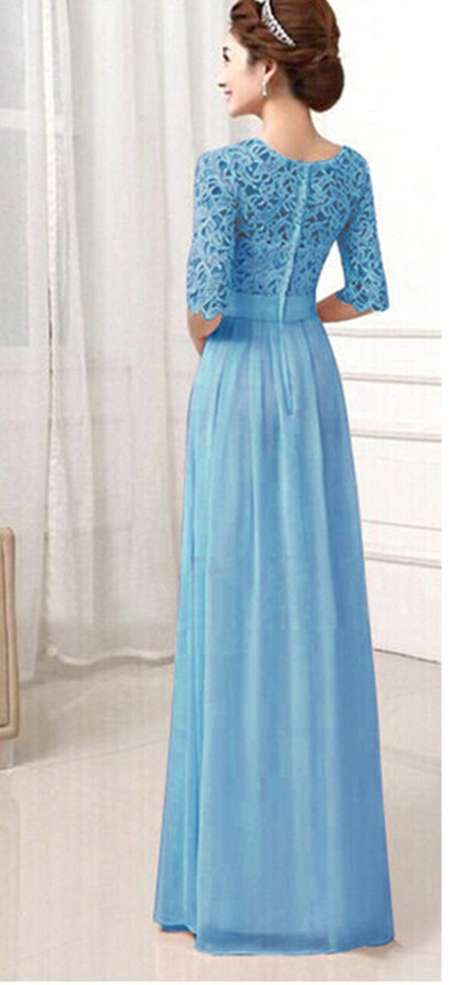 Amazon.com: Women Long Bridesmaid Prom Gown Evening Formal Party ...