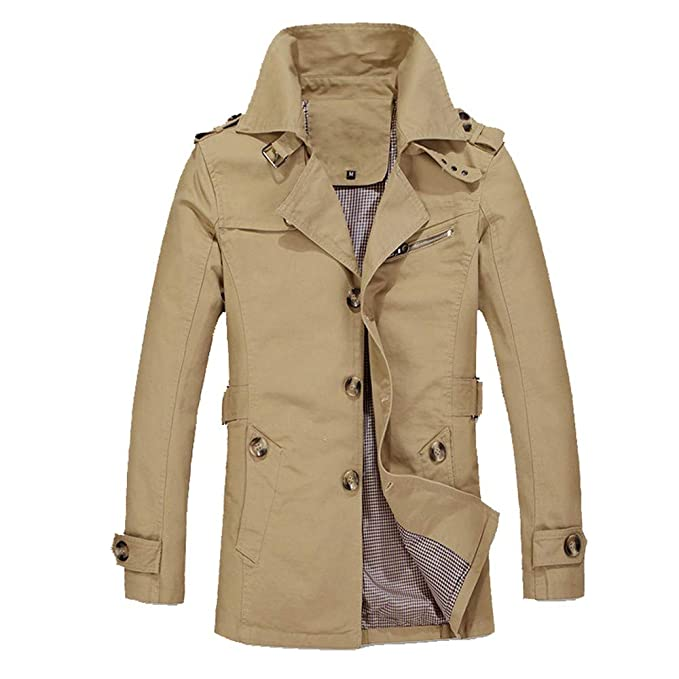Amazon.com: 2018 New!!😊Men Winter Warm Jacket Overcoat,Boys Outwear Slim Long Trench Buttons Coat (4XL, Army Green): Electronics