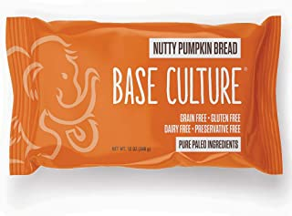 product image for Base Culture Nutty Pumpkin Bread, Large Size | Delicious 100% Paleo Certified, Gluten Free, Grain Free, Non GMO, Dairy Free, Soy Free | 12oz, 6 Count