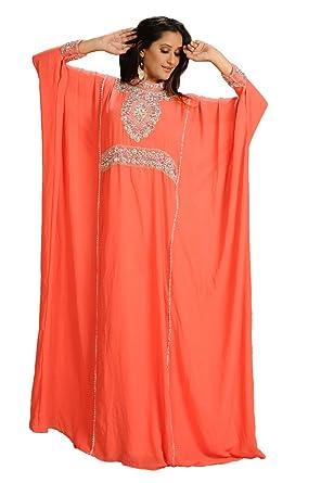 Amazon.com: Moroccan Kaftan Abaya Jalabiya Jilbab Wedding Gown ...