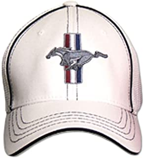 White Bundle with Driving Style Decal Gregs Automotive Compatible Mustang GT Hat Cap Flex-Fit