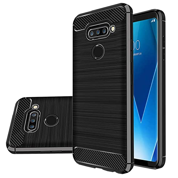best sneakers 953f5 1577f LG V40 Thinq Case, LG V40 Case, Vinve [Slim Thin] Carbon Fiber TPU Shock  Absorption Anti-Scratches Flexible Soft Protective Case Cover for LG V40 ...
