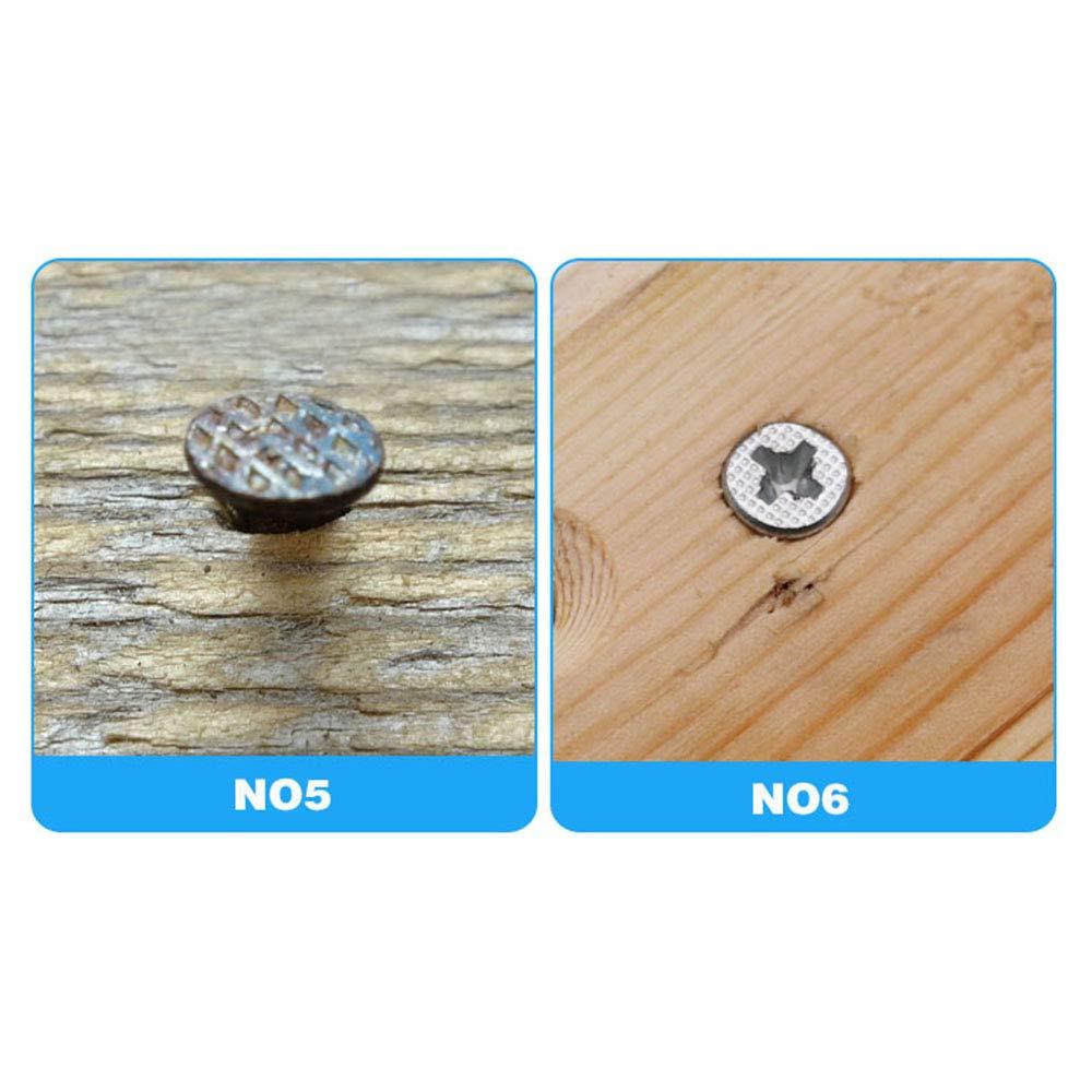 TOOGOO 7Pcs Svasatore Conico Per Trapano Lavorazione Del Legno Set Di Punte Per Fori Di Perforazione Per Viti Dimensioni 3-6mm