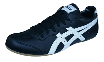 ASICS Whizzer Lo Mens Sneakers/Shoes-Black-8.5