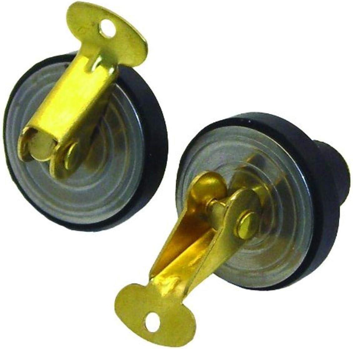 Invincible Marine BR54850Bailer/Baitwell Plug 1/2-Inch Brass PR