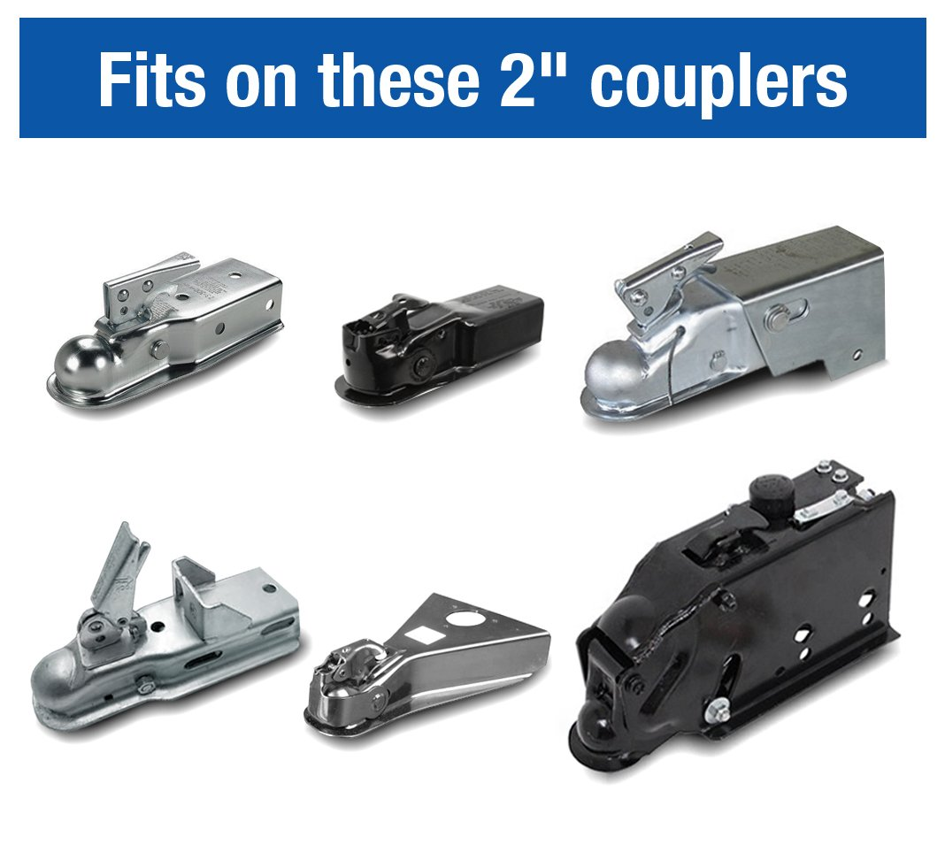 Tyger Auto TG-CL2U006B 2 Coupler Lock for Trailer//RV//Boat Couplers Fits On Specific 2 inches Couplers Only 4348467364