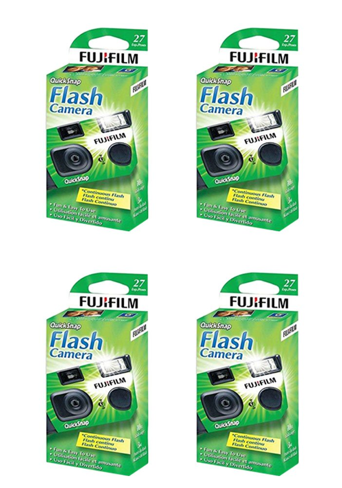 4x Fuji Quicksnap Flash 400 Disposable 35mm Camera 27 Exp 09/2020 FRESH