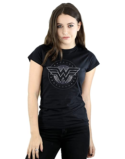 DC Comics mujer Wonder Woman Star Shield Camiseta: Amazon.es: Ropa y accesorios