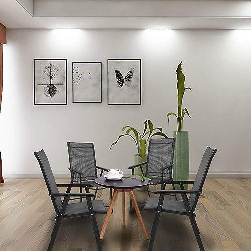 VINGLI Upgraded Set of 4 Folding Chairs
