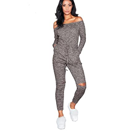 7c34487f7749 Image Unavailable. Image not available for. Color  Women Off Shoulder  Jumpsuit