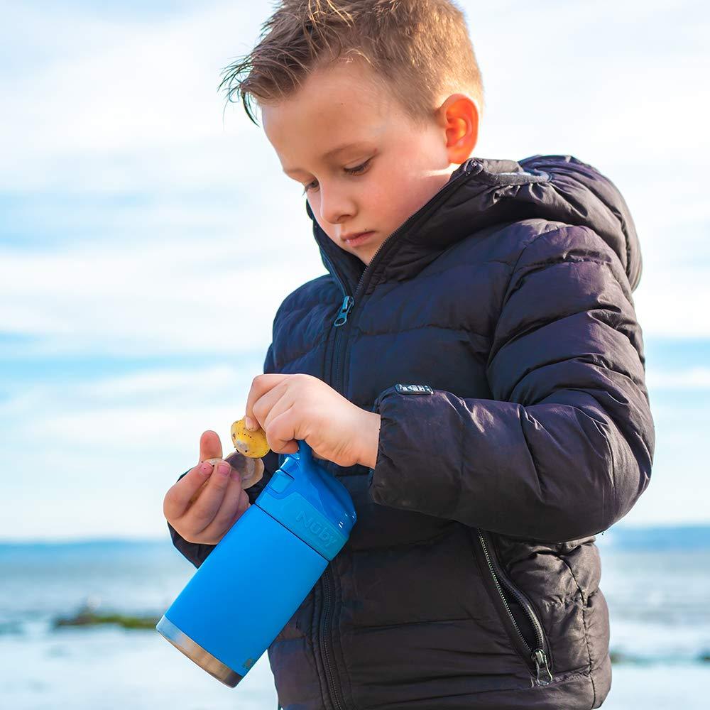 azul mate de botella de agua de acero inoxidable para ni/ños Nuby Sippy Cup