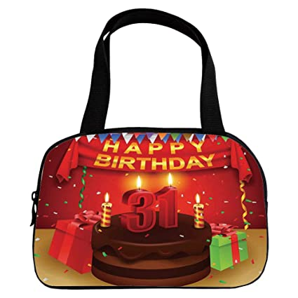 Personalized Customization Small Handbag Pink31st Birthday DecorationsColorful Vibrant Party Set Up Gifts