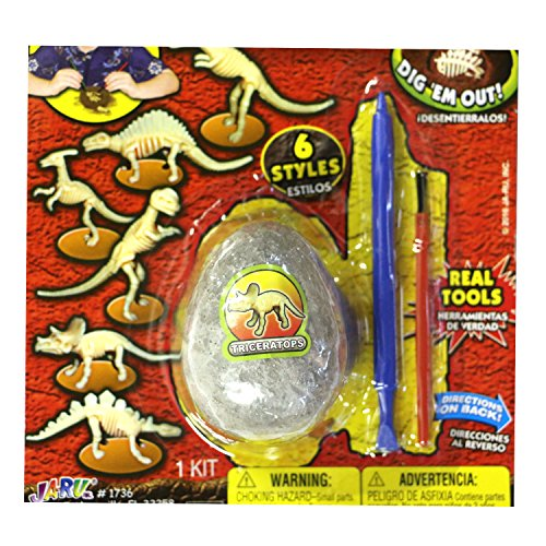 Dino World Dig it Out and Assemble Dinosaur Fossil Kit Egg Shaped (6 Pack All by Dino World (Image #6)