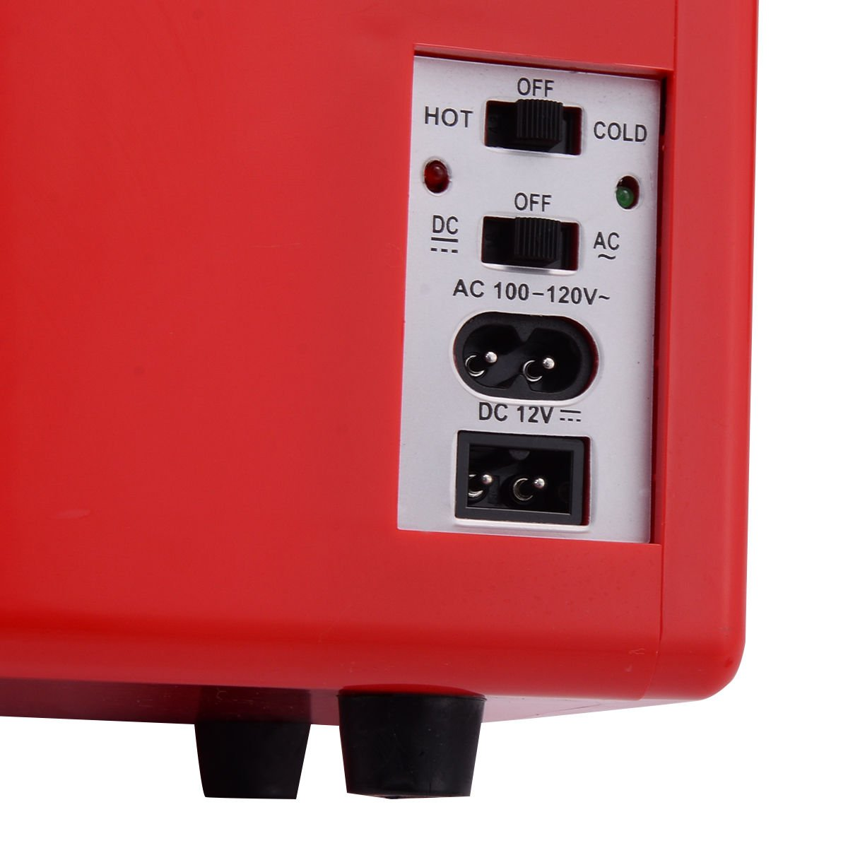 Portable Mini Fridge Cooler and Warmer Auto Car Boat Home Office AC /& DC Red