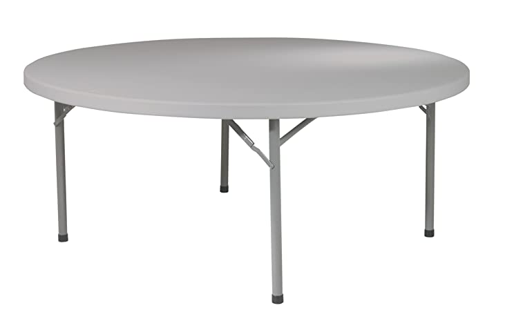 Office Star Resin Multipurpose Round Table, 71-Inch