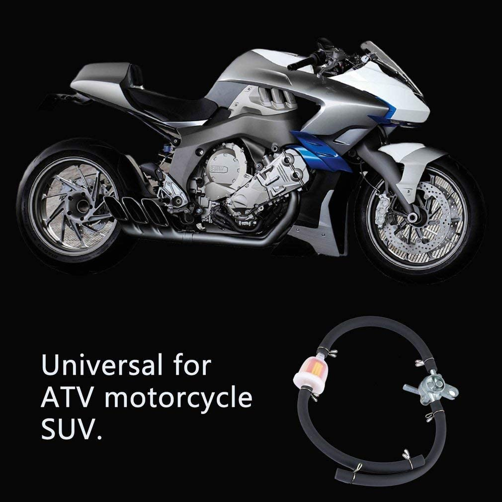 Robinet de r/éservoir dessence en ligne Leoboone filtre pour Pit Dirt Bike VTT moto SUV robinet