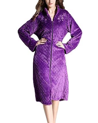 Ropa de Cama de Cuerpo Entero Pronghorn Vestido de Franela de Invierno para Mujer Bata de Lana Albornoz Mujer Ropa