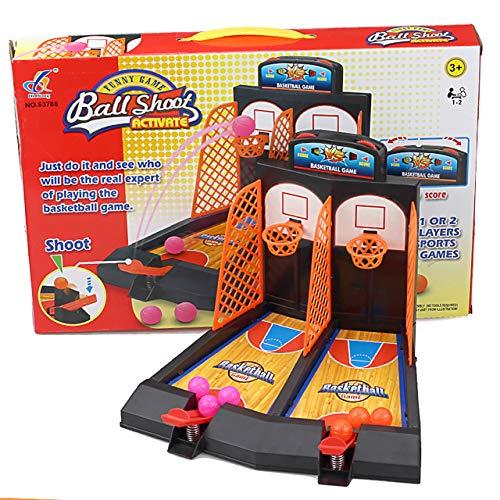 Juguetes para ninos Doble Escritorio Catapulta Baloncesto Mesa Juguete Mini Baloncesto Juego de Disparos Juguete Mano-Ojo Coordinacion (Colorido) ESjasnyfall