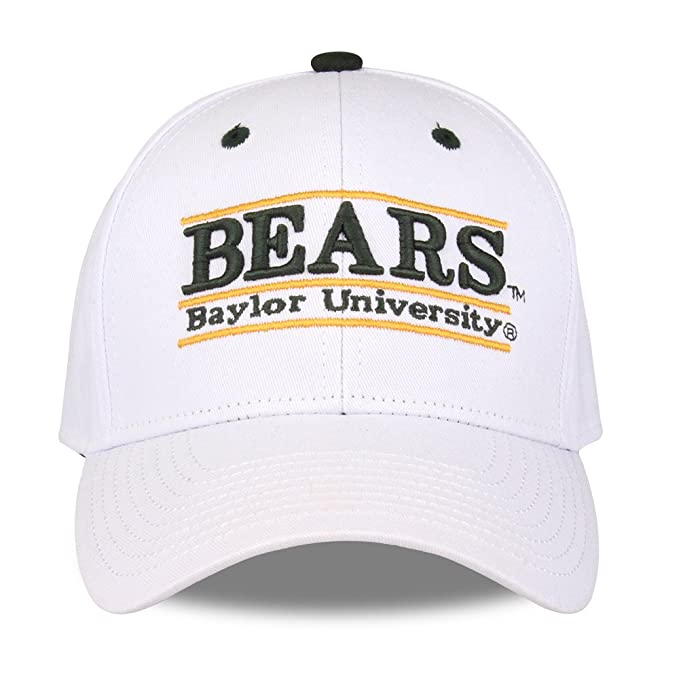 Adjustable Baylor Bears Adult Game Bar Adjustable Hat White