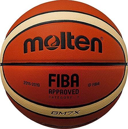 BGM7X Composite Leder FIBA Match Basketball Gr. 7 Tan Größe 7 Molten BGM7X