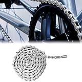 Hoseten Anti-Rust 102L Bike Chain, Silver Steel Bike Chain, for Mountain Bike