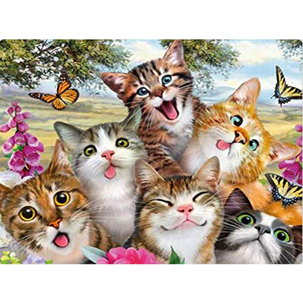 Kits de pintura de diamantes cuadrados 5D para bricolaje kit de punto de cruz,5d pintura diamante,square diamond painting bordado de gatos para decoraci/ón del hogar 30 x 40 cm