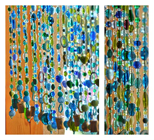Blue, green, turquoise unique beaded