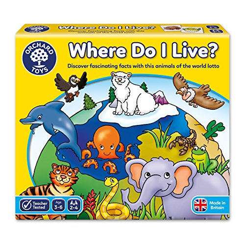 Orchard Toys Where Do I Live Lotto Game (Multi-Colour) by Orchard (Lotto Memory Game)