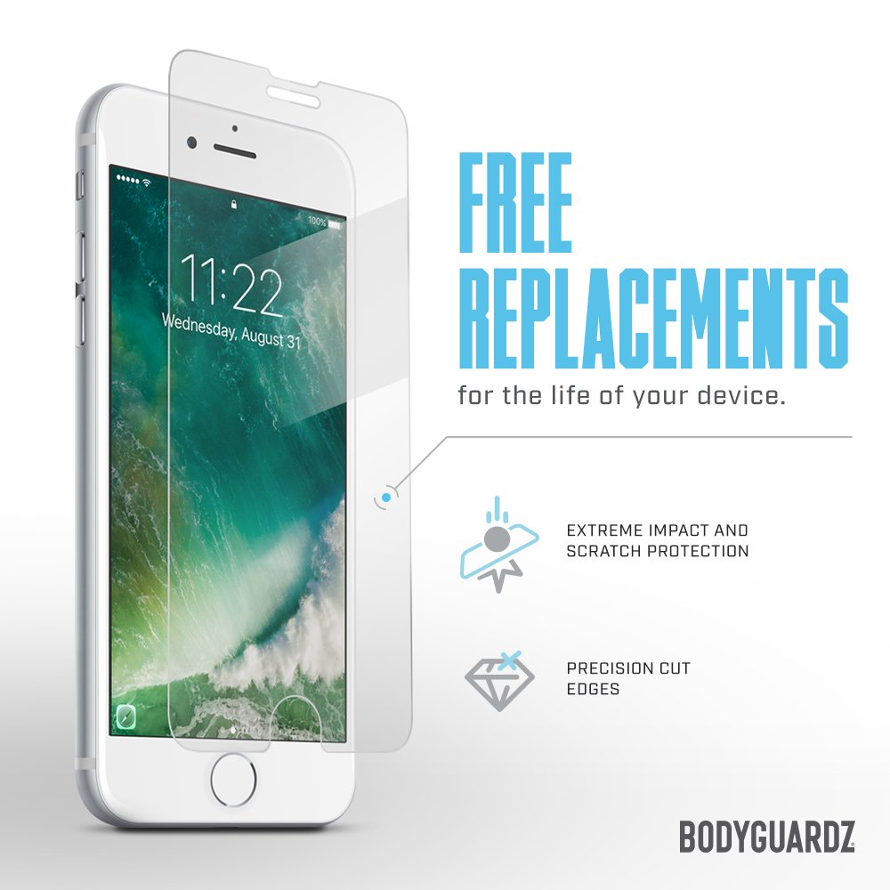 BodyGuardz - Pure Glass Screen Protector, Ultra-Thin Tempered Glass Screen Protection for iPad Pro
