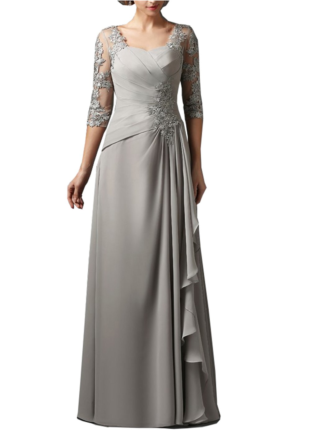 bb2203cc90 Silver Grey Lace Mother Of The Bride Dresses - Gomes Weine AG