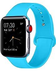ATUP Armband Kompatibel für Apple Watch Armband 38mm 42mm 40mm 44mm, Weich Silik on Ersatz Armband für iWatch Series 4, Series 3, Series 2, Series 1